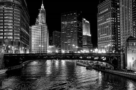 Framed Chicago River Print