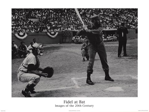 Fidel at Bat by Sir Edward Hulton and Getty Images