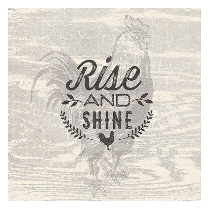Framed Rise & Shine Print