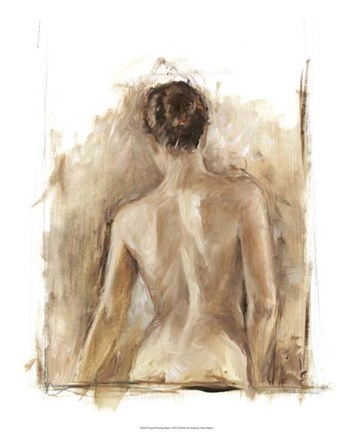 Framed Figure Painting Study I Print