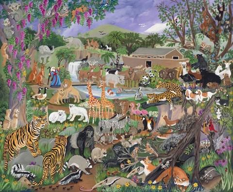 Noah S Ark Fine Art Print By Carol Salas At Fulcrumgallery Com