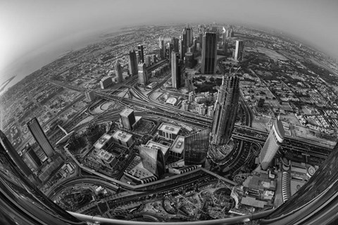 Framed Dubai At the Top Print