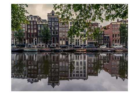 Framed Amsterdam Reflections Print