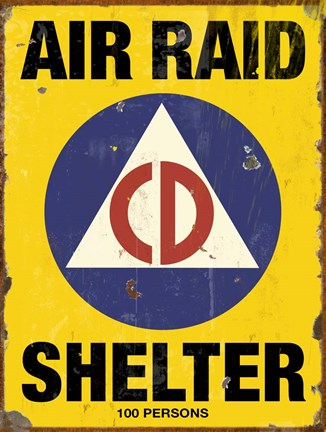 Framed Air Raid CD Print