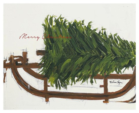 merry christmas tree fine art print by melissa lyons at