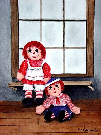 Framed Raggedy Ann and Andy Print