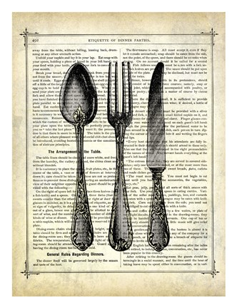 Framed Silverware Print