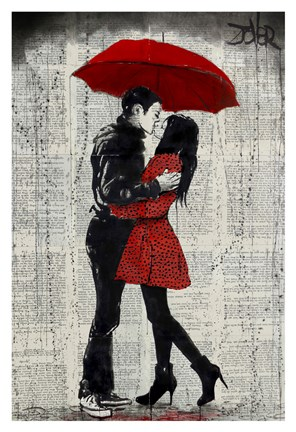 Framed Rain Kisses Print