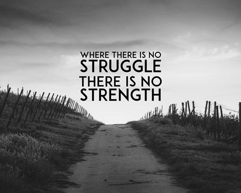 Where There Is No Struggle There Is No Strength