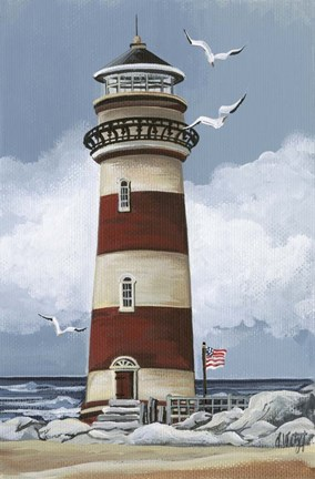 Lighthouse B Fine Art Print By Debbi Wetzel At