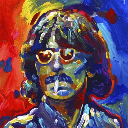 Framed George Harrison Glasses Print