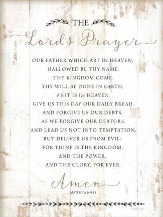 graphic regarding Printable Lords Prayer named Jennifer Pugh The Lords Prayer