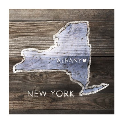Framed New York Rustic  Map Print