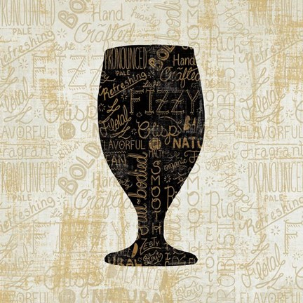 Framed Cheers for Beers Goblet Print
