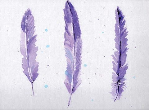 Framed Lavender Feathers Print