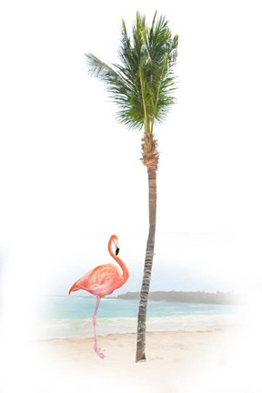 Framed Flamingo in Paradise Print