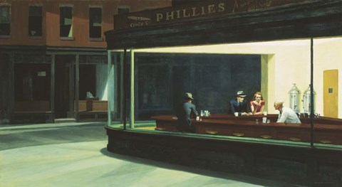 Framed Nighthawks Print