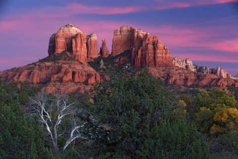 Framed Sedona Cathedral Rock Dusk Print