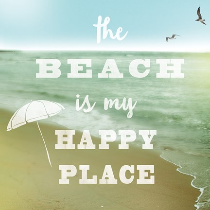 Framed Happy Beach Print