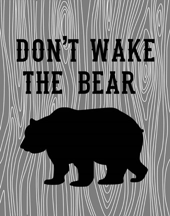 Framed Don't Wake the Bear Print