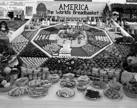 Framed 1950s Farm Produce And Other Food At State Fair Print