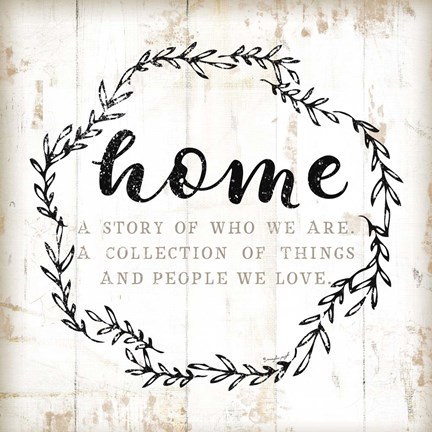 Framed Home - A Story of Where We Are Print