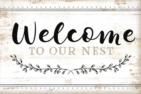 Framed Welcome to Our Nest Print