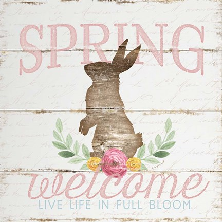 Framed Spring Welcome Print