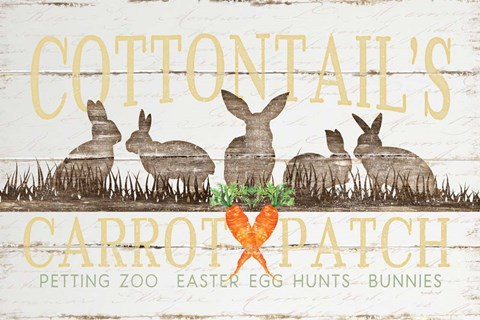 Framed Cottontail's Carrot Patch Print