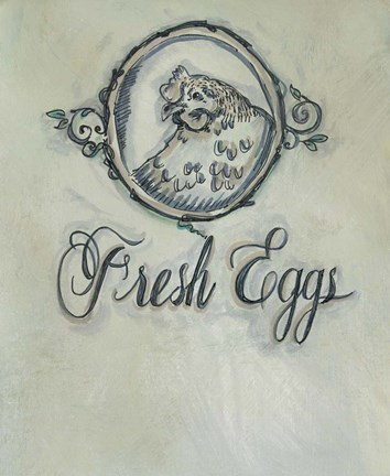 Framed Fresh Eggs Print