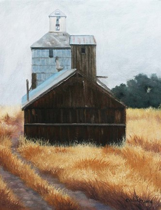 Framed Hwy 12 Grainery Print