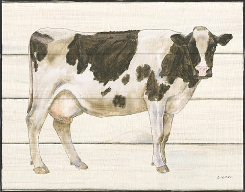 Framed Country Cow VII Print