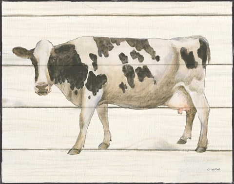 Framed Country Cow VI Print