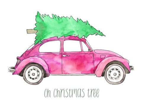 Car Christmas Tree.Elise Engh Pink Car Oh Christmas Tree