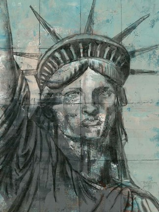 Statue Of Liberty Charcoal Fine Art Print By Marie Elaine