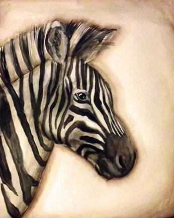 Zebra Portrait Fine Art Print by Tre Sorelle Studios at ...