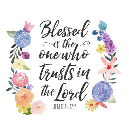 Floral Bible Verse I Fine Art Print By Noonday Design At