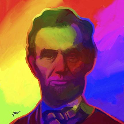 Framed Pop Art Abe Lincoln Print