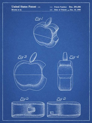 Cole Borders Blueprint Apple Logo Flip Phone Patent