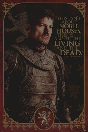 Framed Game of Thrones - Jaime-Noble Houses Print