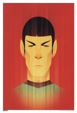 Framed Star Trek - Spock Red Print