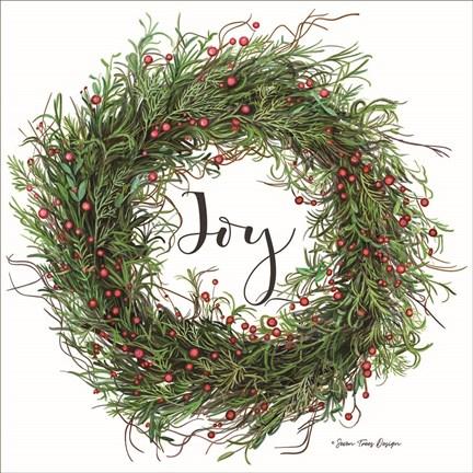 Joy Wreath Fine Art Print By Seven Trees Design At Fulcrumgallery Com