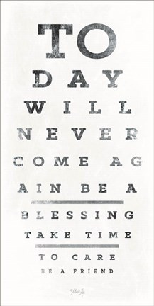Framed Eye Chart I Print