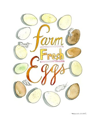 Framed Farm Fresh Eggs Print