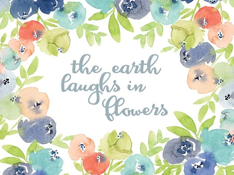 Framed Earth Laughs in Flowers Print