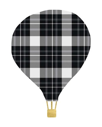 Framed Plaid Balloon Print
