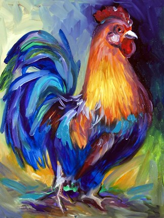 Framed Rooster One Print