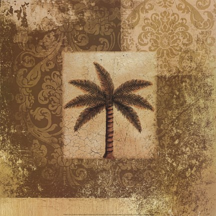 Framed Antiqued Palm Print