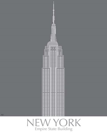 Framed New York Empire State Building Monochrome Print