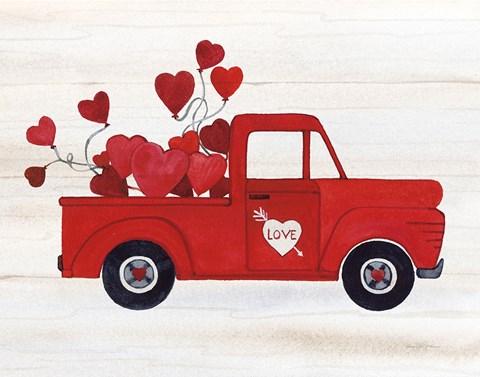 Best Family Truck >> Rustic Valentine Truck Fine Art Print by Kathleen Parr McKenna at FulcrumGallery.com